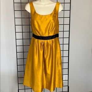 THE LIMITED Deep Gold Mustard Satin Dress Like New